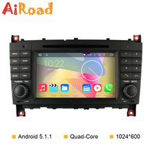 Android 5.1.1 Car DVD for Mercedes Benz C Class W203 CLK W209 CLS W219 Android Radio CD Player Navigation GPS Quad Core 1024*600