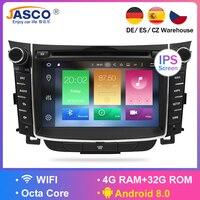 4GB Android 8.0 Car Stereo DVD Player GPS Glonass Navigation For Hyundai I30 Elantra GT 2012+ Video Multimedia Radio headunit