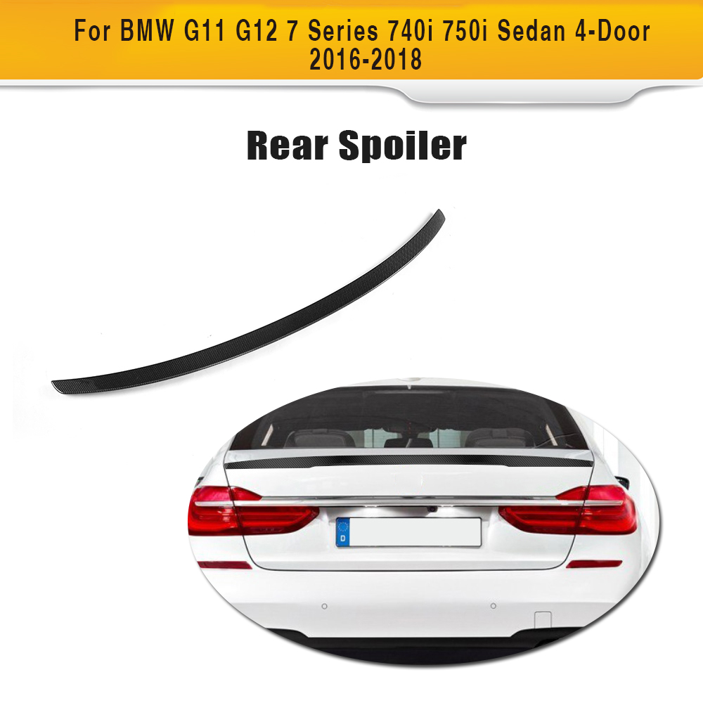 Carbon Fiber Car Racing Rear Spoiler Wing Lip For BMW G11 G12 7 Series 740i 750i Sedan 2016-2018