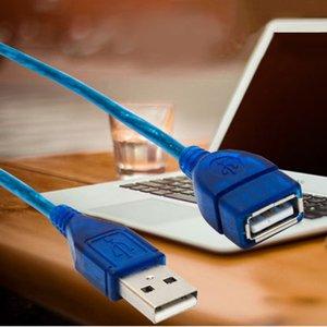 Image 2 - 1/1.5/2/3M USB 2.0 تمديد كابل يو إس بي 2.0 الذكور إلى USB 2.0 الإناث كابل الأزرق