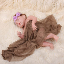 Newborn Shawl Stretch Knit Wrap Photography Props Baby Kids Wraps Hammock Receiving Blankets Girls Boys Infant Wraps Swaddle(China)