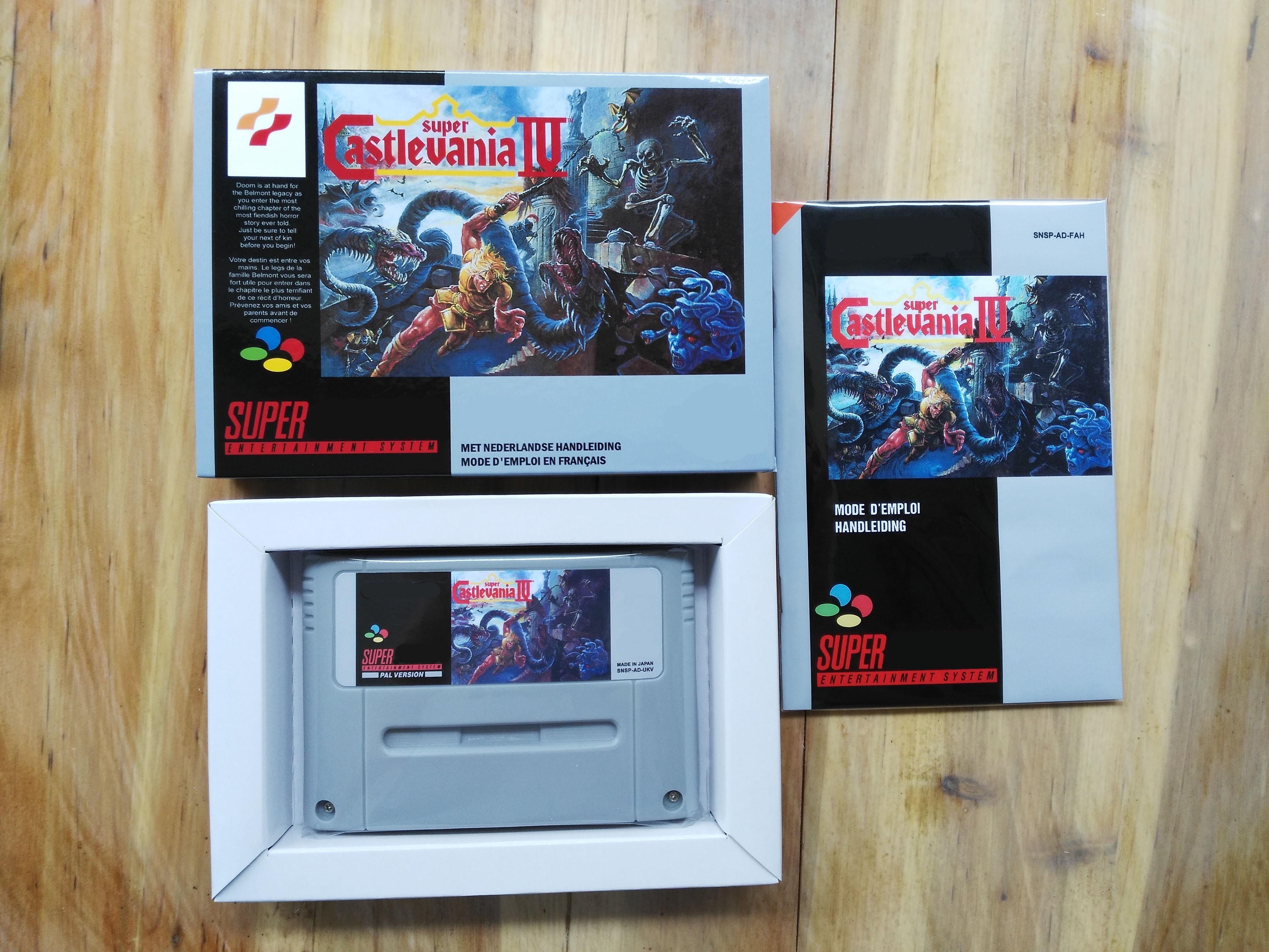 16Bit Games Super Castlevania 4 French PAL Version Box Manual Cartridge