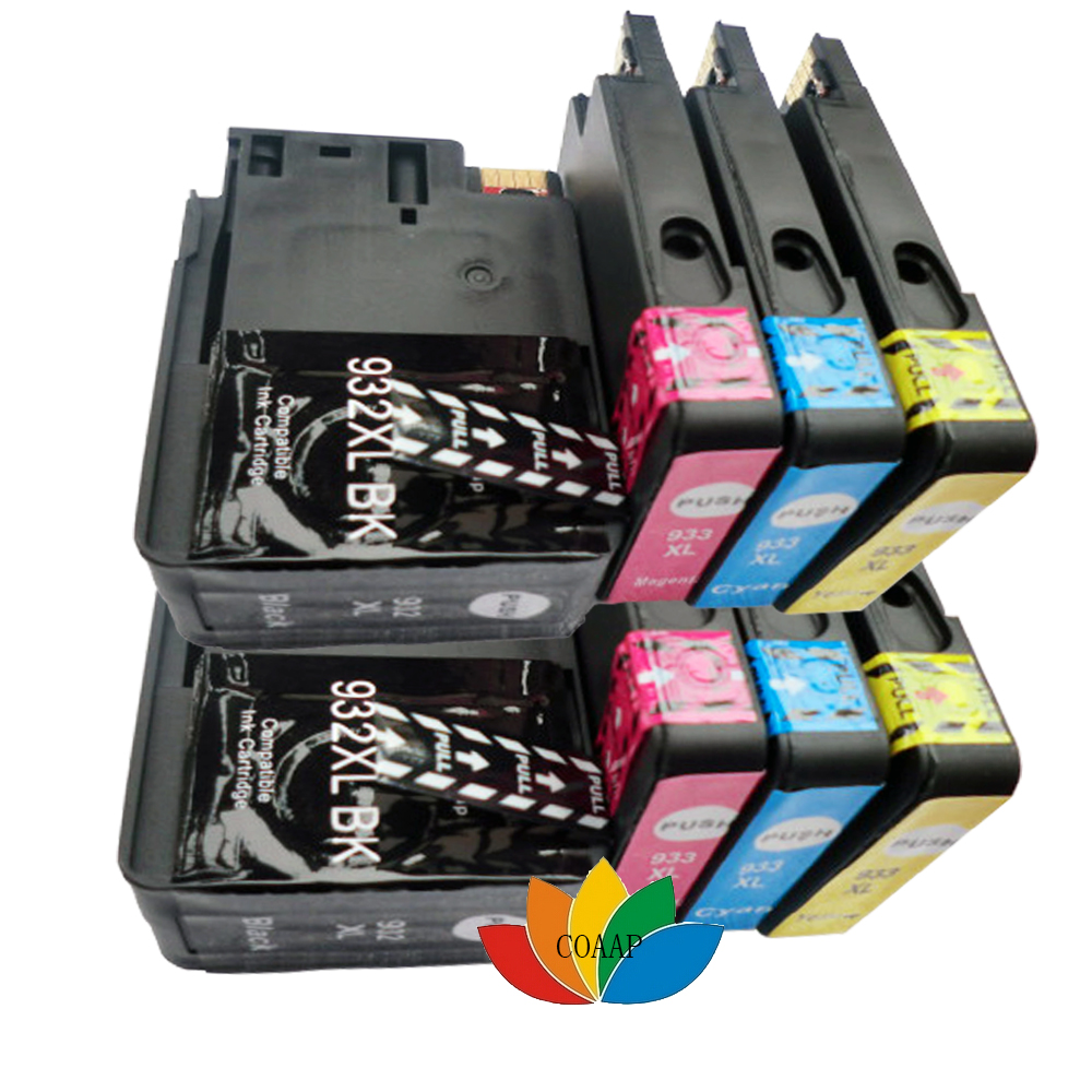8PK For Compatible hp932 hp933 Ink Cartridge For HP 932XL 933XL Officejet 6100 / 6600 / 6700 / 7110 7610 printer models 4 color permanent chip for hp 685 for hp 3525 4615 4620 5525 4625 printer cartridge chip