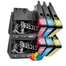 Get more info on the 8PK For 932xl 933xl Ink Cartridge For 932 Black 933 Color Officejet 6100 / 6600 / 6700 / 7110 7610 printer models