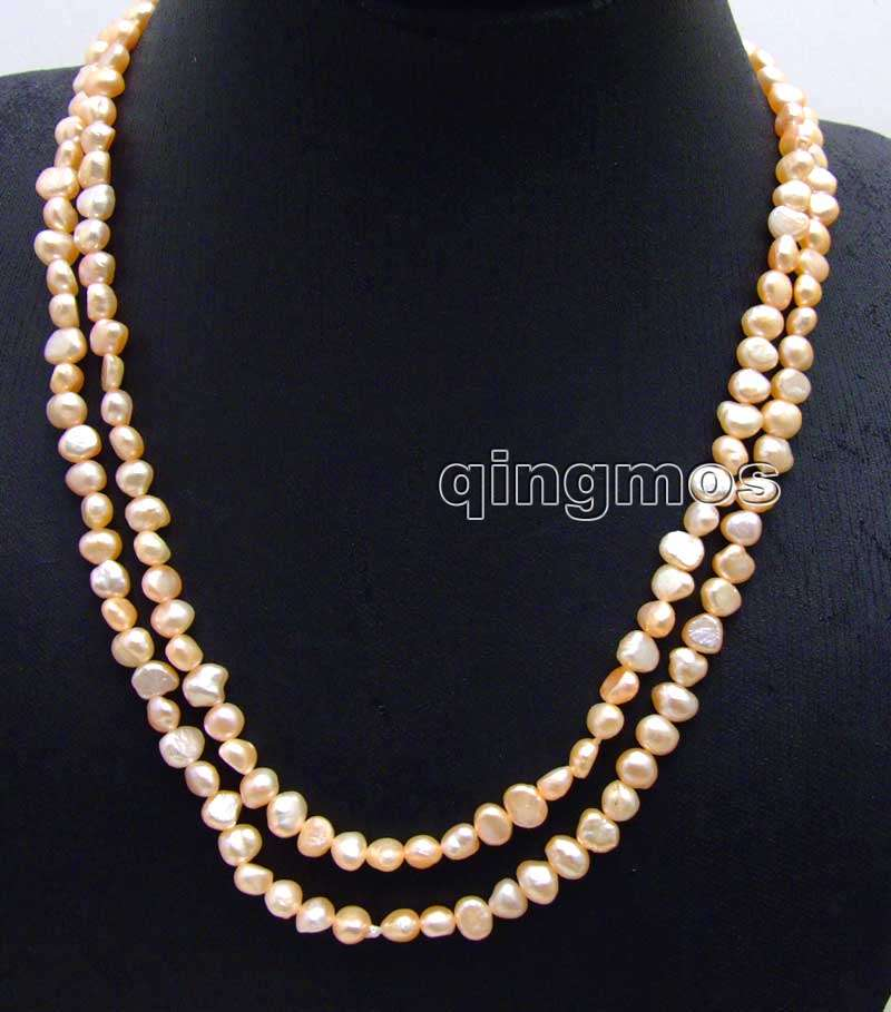 5-6mm Oyster Dusty Pink Rondelle Freshwater Pearls Beads for Jewellery Making