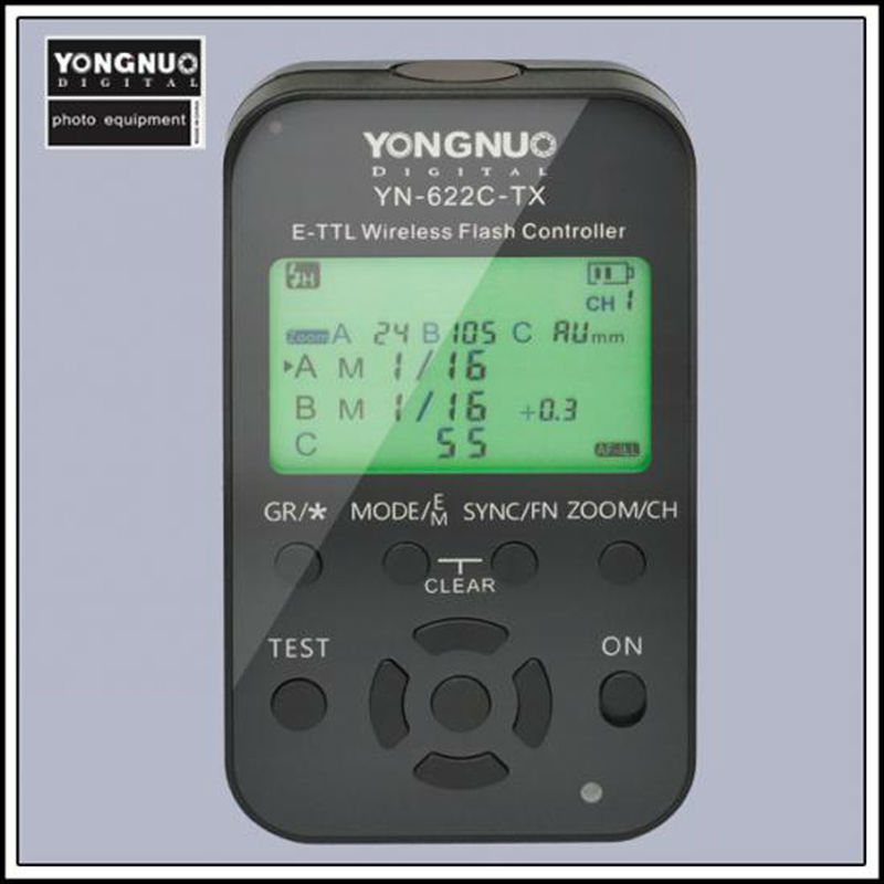 Newest Yongnuo YN 622C TX YN622C TX LCD Wireless e TTL Flash Controller 1 8000s for