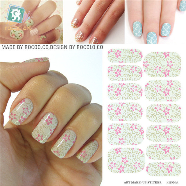 French Manicure Styling Tools Water Transfer Nail Foils Sticker ...