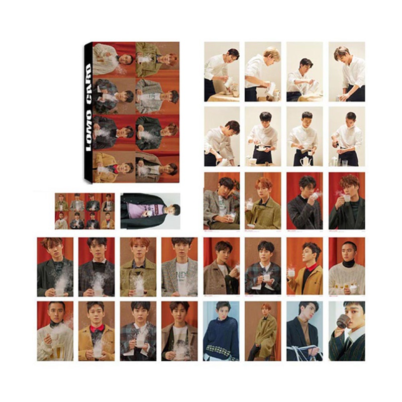 New Arrival 30pcs/set Pop Stars Exo Album Lomo Cards  New Fashion Self Made Paper Photo Card Photocard