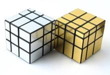 1 шт. 3x3x3 ShengShou Золото и Серебро Зеркало Magic Cube Скорость Зеркало Головоломка Куб Обучения и развивающие Игрушки для Детей