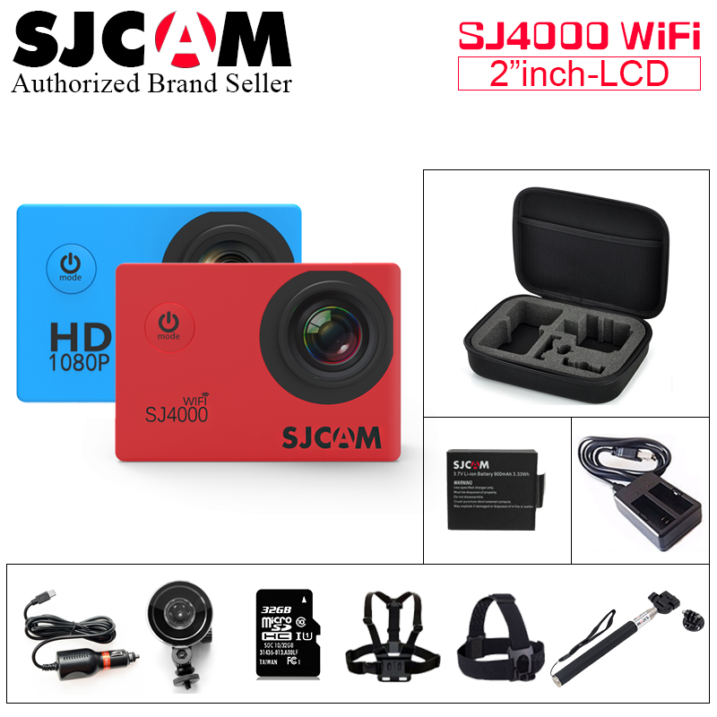 Original SJCAM SJ4000 WiFi Sport Action Camera 2.0 inch 1080P HD Waterproof Camcorder Underwater sj cam SJ 4000 mini Sports DV