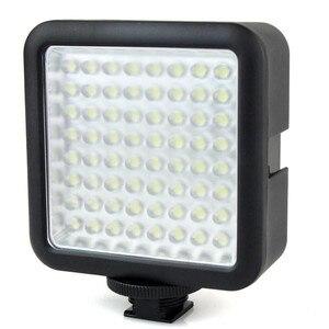 Image 2 - Godox LED64 wideo Panel LED lampa makrofotografii dla Canon Nikon kamery