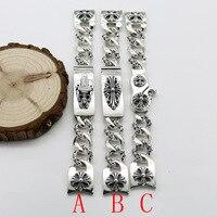 Звездном S925 стерлингового серебра вода серии призрак часы цепи панк распятие меч Для мужчин Для женщин Винтаж тайский серебряный браслет