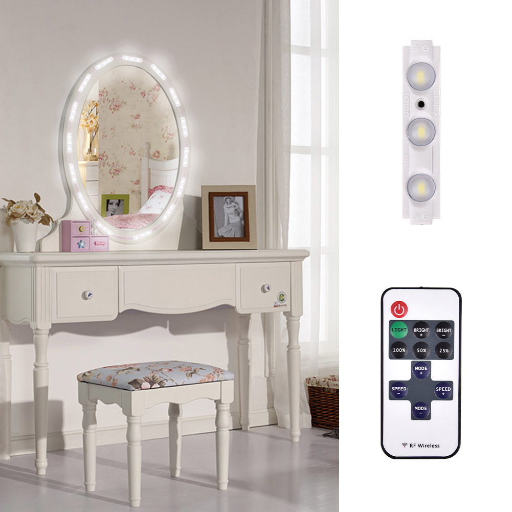 10FT 60LED Makeup Mirror Light Bathroom Vanity Light Kit DIY Vanity Mirror Light With Remote Control  For Easter Gift