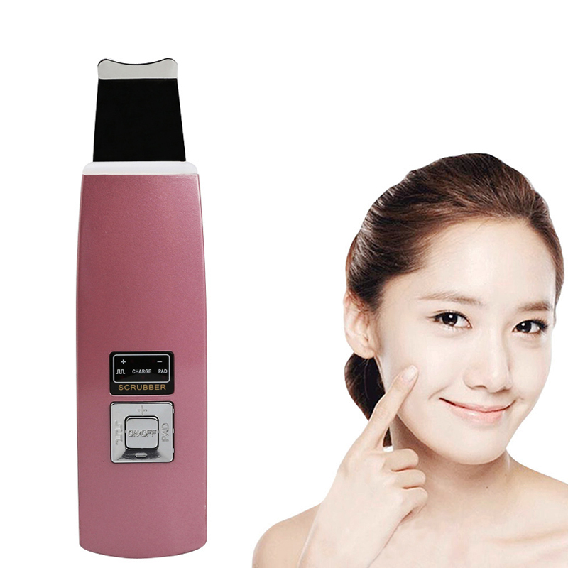 Facial Dermabrasion Acne Pore Scrubber Face Pore Cleaner Ultrasonic Facial Cleaner Skin Scrubber Wrinkle Acne Blackhead Removal батарейки kodak max lr6 12bl kaa 12 120 720 17280 lr6 12 шт