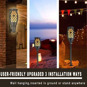 Image 3 - Güneş meşale ışıkları, su geçirmez titrek alevler güneş ışıkları açık 99 LEDs peyzaj dekorasyon ışıklandırma şafak alacakaranlık otomatik