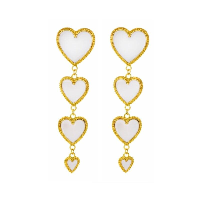 heart gold white