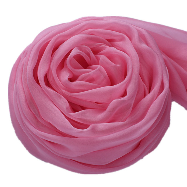 2016 Spring Chiffon Silk Scarf Women Shawls And Scarves Pink Women Winter Scarfs 195*65cm
