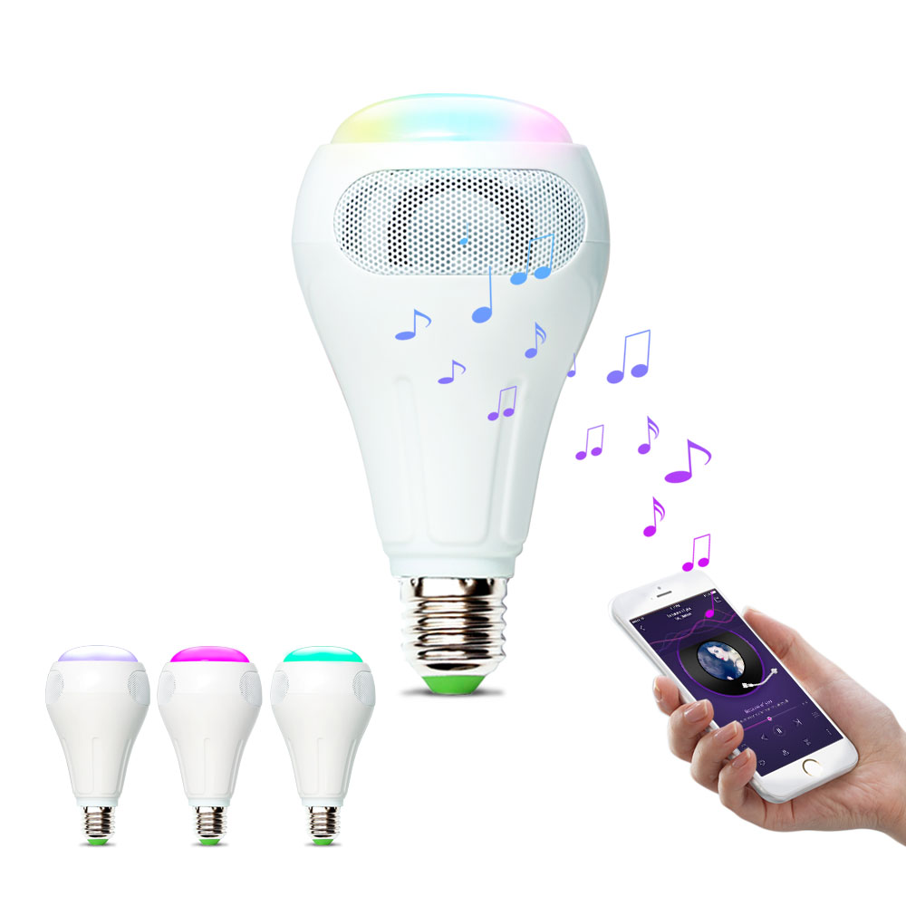 iHomma Smart Wireless Music Light Bulb WiFi Control Bluetooth Speaker Dimmable APP for iOS for Android 12W 900Lumen 16 [dbf]e27 10w bluetooth speaker for mobile smart led light lamp music wireless speaker color change dimmable by ios android app