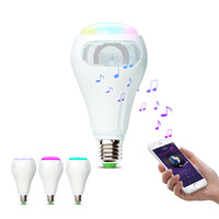 iHomma Smart Wireless Music Light Bulb WiFi Control Bluetooth Speaker Dimmable APP for iOS for Android 12W 900Lumen 16