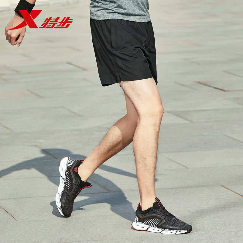 881229679239 xtep men 39 s shorts 2019 spring new sports shorts black breathable loose men casual running shorts in Running Shorts from Sports amp Entertainment