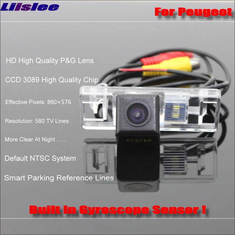 Liislee Rear Camera For Peugeot 308 2D coupe Cabriolet 3D 5D Hatchback HD 860 576 Pixels Intelligent Parking Tracks in Vehicle Camera from Automobiles Motorcycles