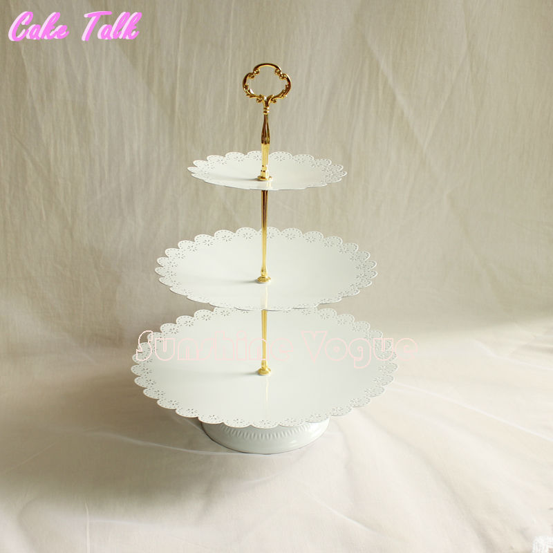 Classical 3 tiers cupcake stand wedding dessert tray home decor cake Accessory bakeware dinnerware Event Party
