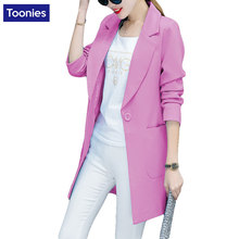 2017 New Spring Jacket Women Coat Suit Female Korean Womens Slim Long Sleeved All-match Size Long Section of Female Suits Tops
