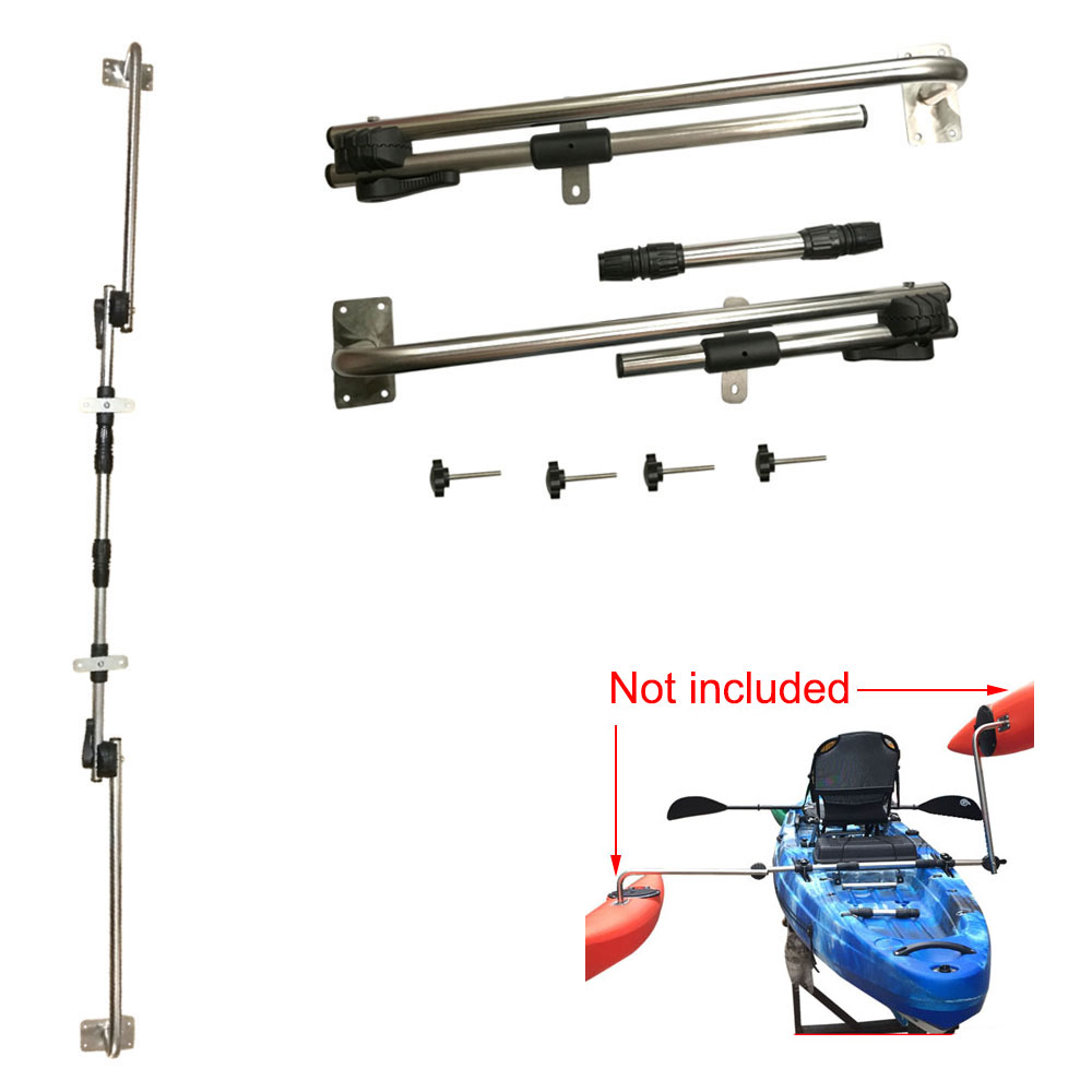 Deluxe Adjustable Canoe Outrigger Boat Stabilizer Sidekick Kakak Standing Pole for Water Buoy DIY Float Pole Bracket