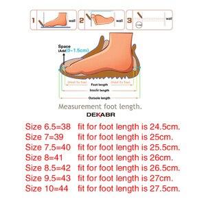 Image 5 - DEKABR Sandalias casuales de cuero genuino para hombre, zapatos transpirables de estilo clásico, para verano