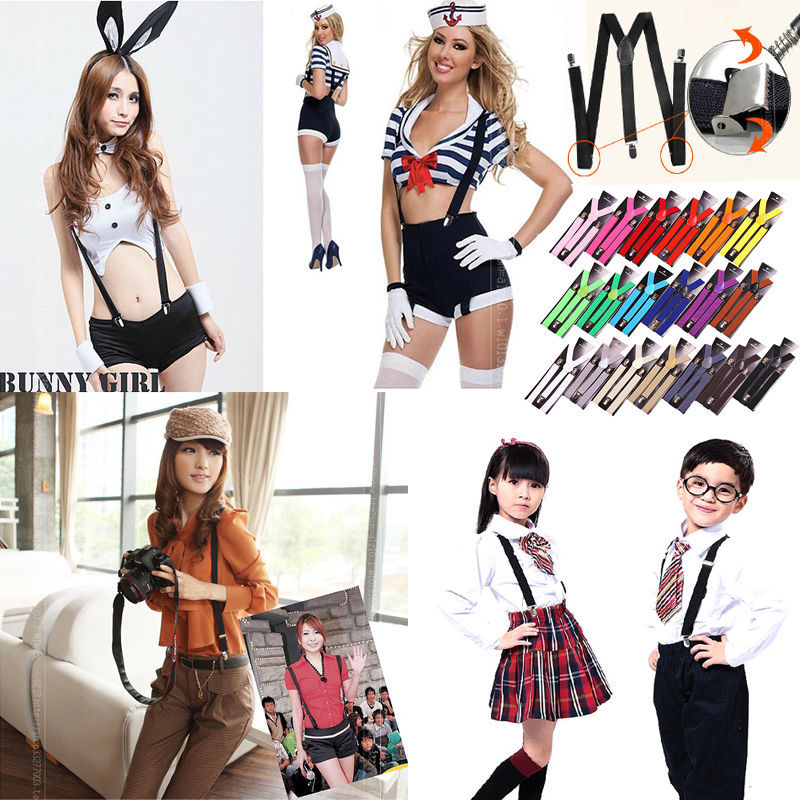 Unisex Boys Girl Child Kids Clip-on Suspenders Elastic Y-Shape Adjustable Braces