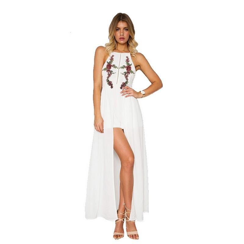 Summer woman maxi dress vestidos sexy hollow leak back hand embroidery open long dress woman dress party dress plus size