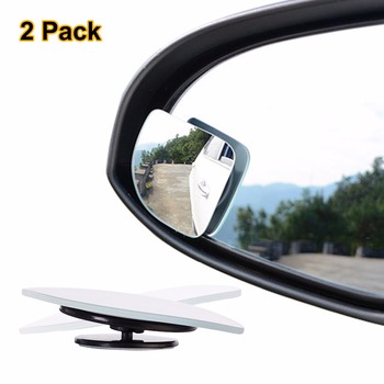 2 sztuk partia regulowany bezramowe HD szkło samochodowe Blind Spot lustro na parking pomocniczy widok z tyłu lustro kształt wentylatora tanie i dobre opinie Lusterka wewnętrzne 1 5cm glass ABS Blind Spot Mirror
