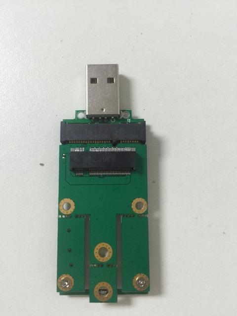 Tarjeta adaptadora NGFF M.2 a USB módulo de comunicación inalámbrica, apoyo sierra EM8805 EM7305 EM7355, me906e huawei mu736 me906v