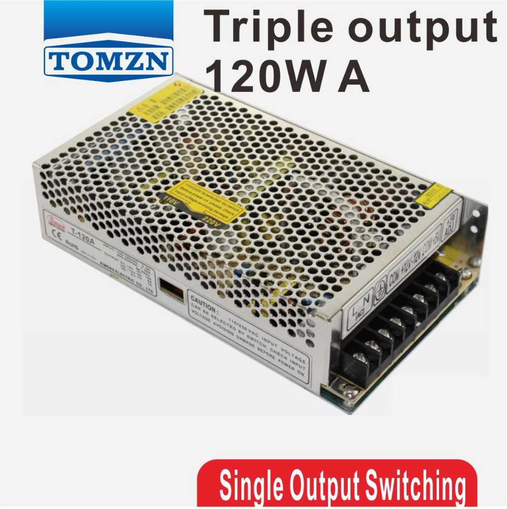 120W Triple output 5V 12V -5V Switching power supply smps AC to DC 30w triple output 5v 24v 12v switching power supply smps ac to dc