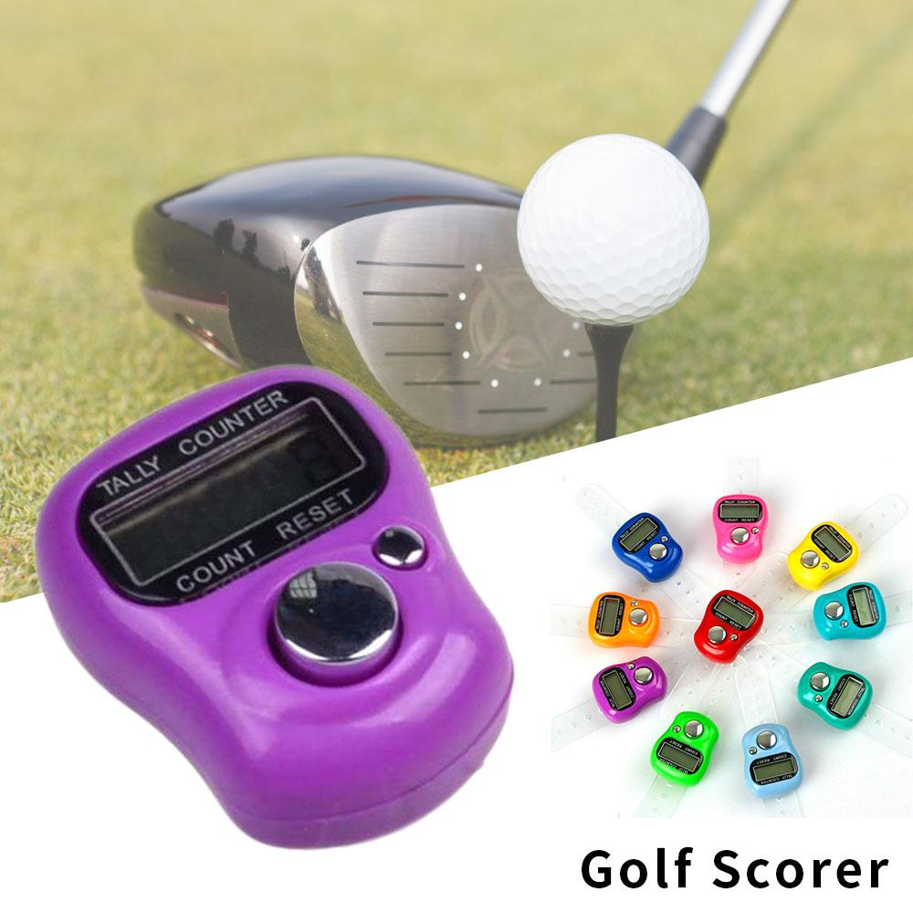 Vehemo Electronic Counter Tools Scoring Device Digital Score Indicator Hand Ring Golf Tally Accurate Sport Mini Outdoor Golf