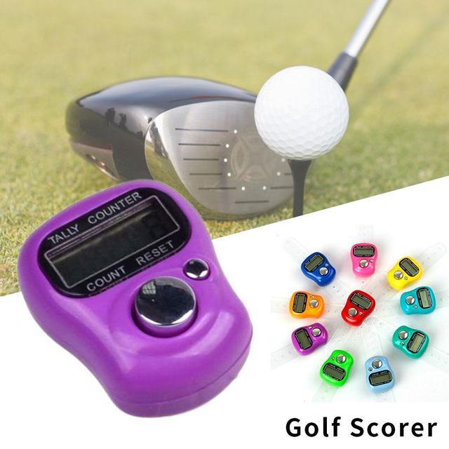 Vehemo Compteur Électronique Outils de Notation Dispositif Numérique Score Indicateur Anneau de Main Golf Tally Précis Sport Mini Extérieure De Golf