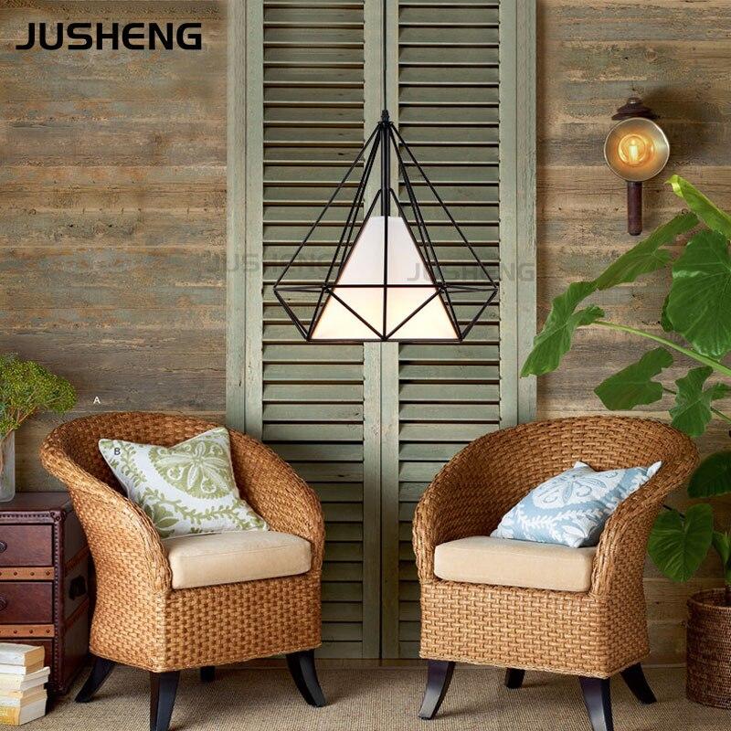JUSHENG moderne haute qualité cordon lampes suspendues 37 cm 110 v/220 v pendentif luminaire avec E27 prise avec CE