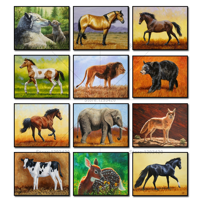 5D Diamond Mosaic Embroidery Color Horse Lion Cross Crafts Diamond Painting Rhinestone Pasted for Square diamond mosaic