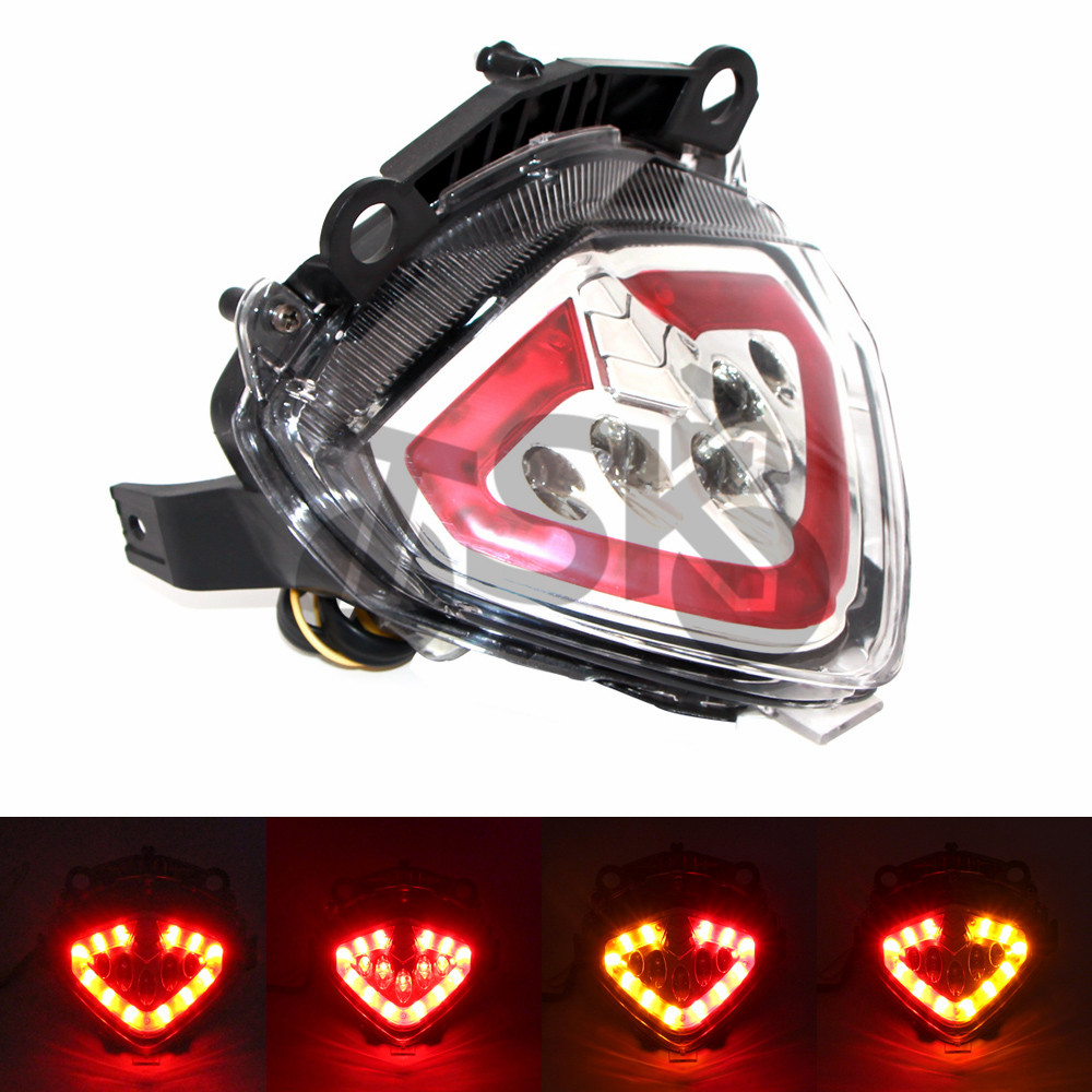 For HONDA CB X/R/F CBX CBRR CBF 2013 2014 2015 Motorcycle Integrated LED Tail Light Turn signal Blinker Lamp Red