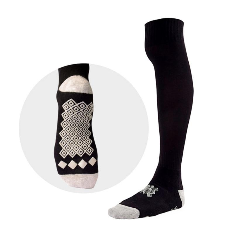 Эпоксидные Нескользящие амортизаторы дышащие полотенца спортивные Чулочно-носочные изделия на открытом воздухе мягкие эластичные влагостойкие спортивные футбольные высокие носки - Цвет: Черный