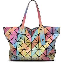 2016 Women s Baobao Bag Japan Style Hight Quality As Baobao Lattice Geometric Package 3D Rainbow