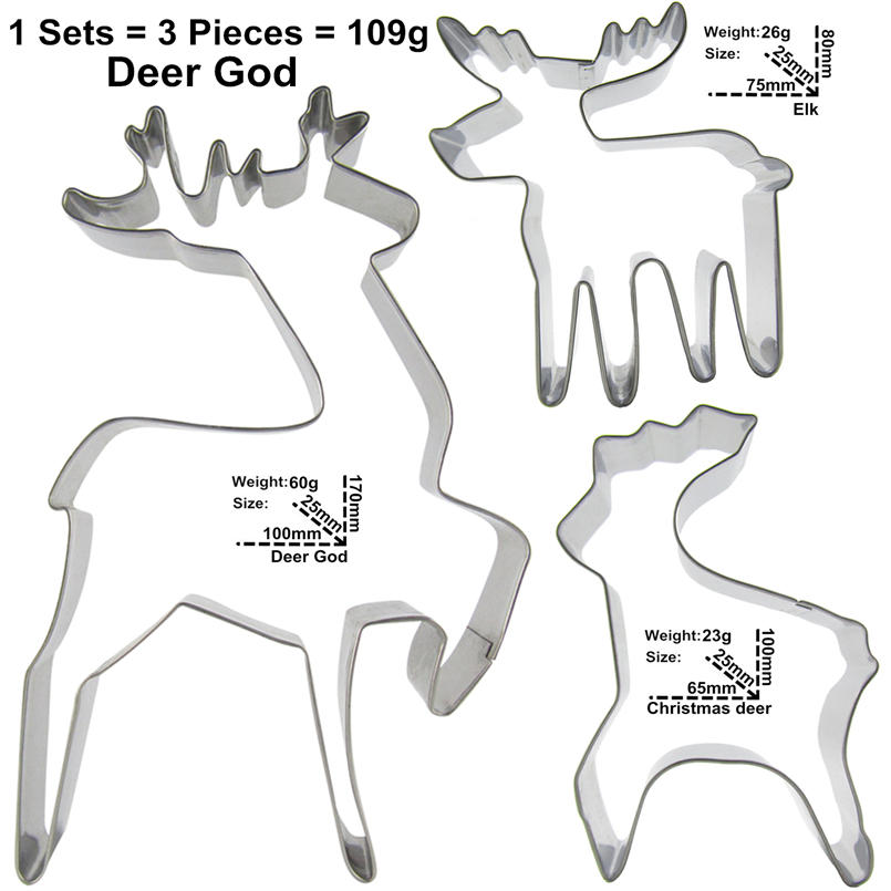 Elk Sika Deer және Christmas Deer Shape Cake Decorating Tools - Тағамдар, тамақтану және бар - фото 2
