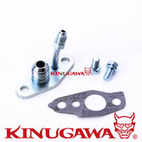 Kinugawa Turbo Oil Flange Kit 4AN Feed 8AN Return for TOYOTA CT20 CT26