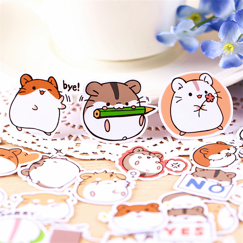 40 PCS Cartoon Fruit Boy Girl Diary Mobile Phone Stickers  Stationery Stickers Children Gift