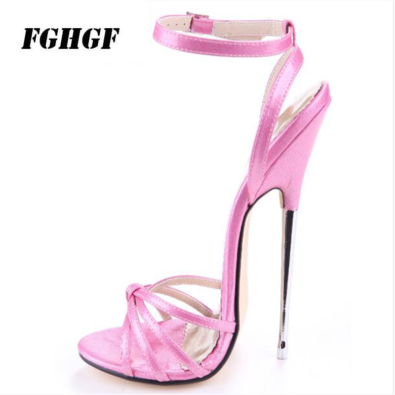 Women'S Sandals New Sexy 16cm Green Metal And Pointy Stiletto With Super High Heel Runway Women'S Sandals 13 Cm Shoes Size 35 46-in High Heels from Shoes    1
