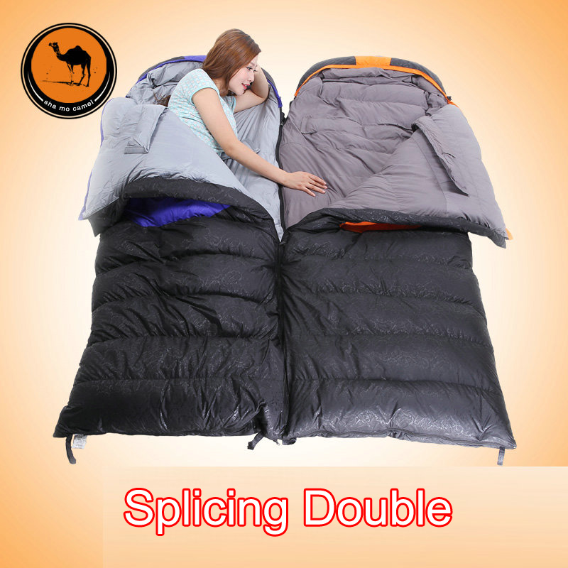 Sam Camel comfortable outdoor travel CM107 4 sleeping bag with 1500G white duck down best sell sleeping bag with free pillow