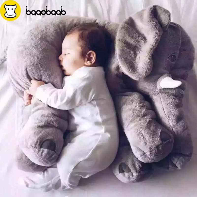 BAAOBAAB 65cm Cartoon Large Plush Elephant Toy Kids Sleeping Back Cushion Stuffed Animal Pillow Elephant Baby Doll Birthday Gift 65cm plush giraffe toy stuffed animal toys doll cushion pillow kids baby friend birthday gift present home deco triver
