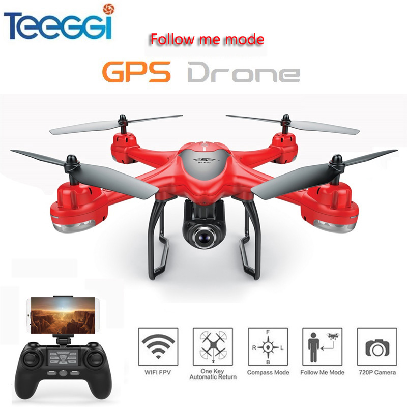 S30W Dual GPS RC Drone with 720P/1080P HD Camera WiFi FPV RC Quadcopter Follow Me One-Key Return RC Helicopter VS S70W X8PRO jjr c jjrc h43wh h43 selfie elfie wifi fpv with hd camera altitude hold headless mode foldable arm rc quadcopter drone h37 mini