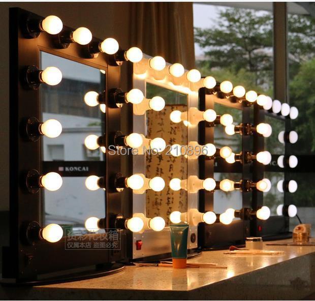 Specchi Con Luci Per Trucco.Us 171 0 5 Di Sconto Professionale Hollywood Style Alluminio Box Specchio Con Luci Trucco Artista Caso Caso Cosmetico Con Lampadine In Professionale