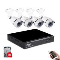 Tonton 1080 P HDMI DVR FULL HD наружная домашняя камера безопасности Система 8CH CCTV камера видеонаблюдения комплект 4 шт. 2MP камера набор 1 ТБ HD
